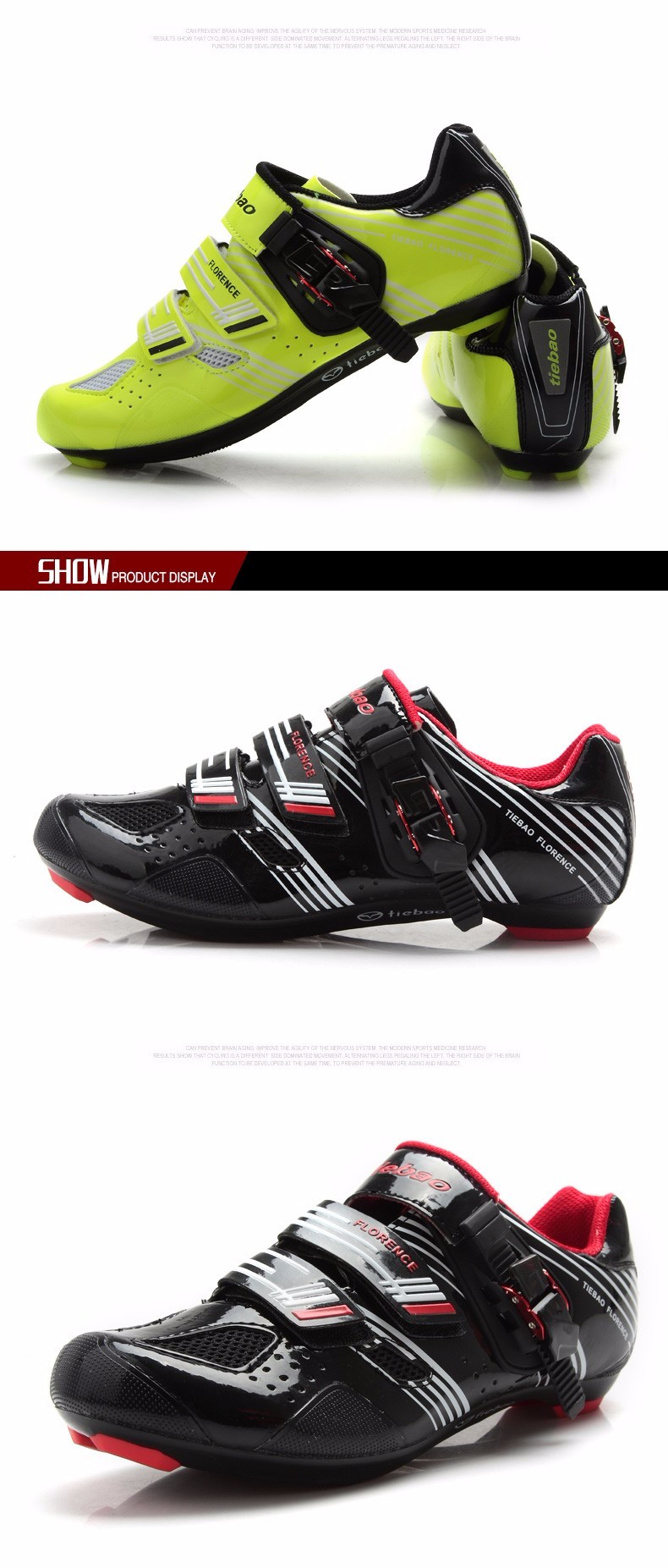 2016 TIEBAO NEW ROAD SHOES BIKE SHOES WITH BUCKLE