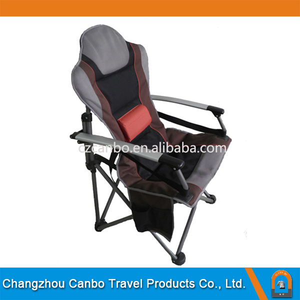 CB-2002-2 Luxury /Soft Folding Beach/Deck Chair with backrest for Camping and Picnic