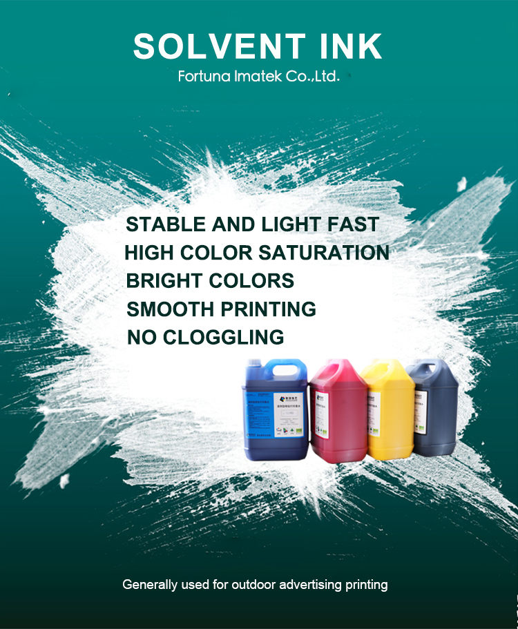 Factory Direct Price Digital Inkjet Printer Oil Based Solvent Ink