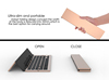 best quality wireless keyboard aluminum alloy bluetooth keyboard portable bluetooth foldable keyboard for ipad 4 3 2