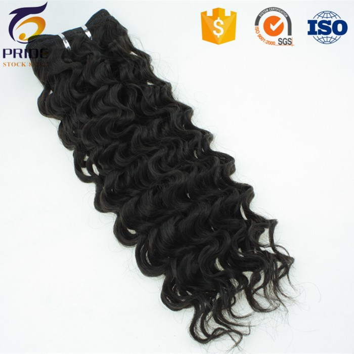 Gread 7A top quality deep wave brazilian hair extensions,human hair and synthetic hair mixed