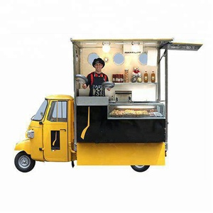 Hot sale outdoor mobile tricycle food truck/street vending food van/electric food truck for sale