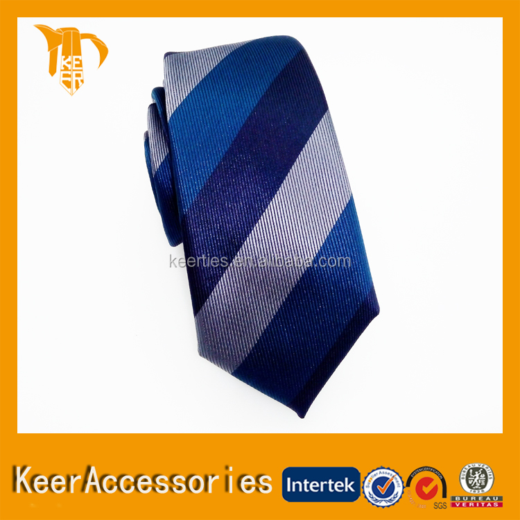 Top Sale Cheap Men's 100% Polyester Striped Necktie Neck Tie