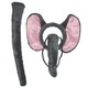 Factory New Design Animal Elephant Cosplay Headbands Hairbands With Tails For kids Party Carnival