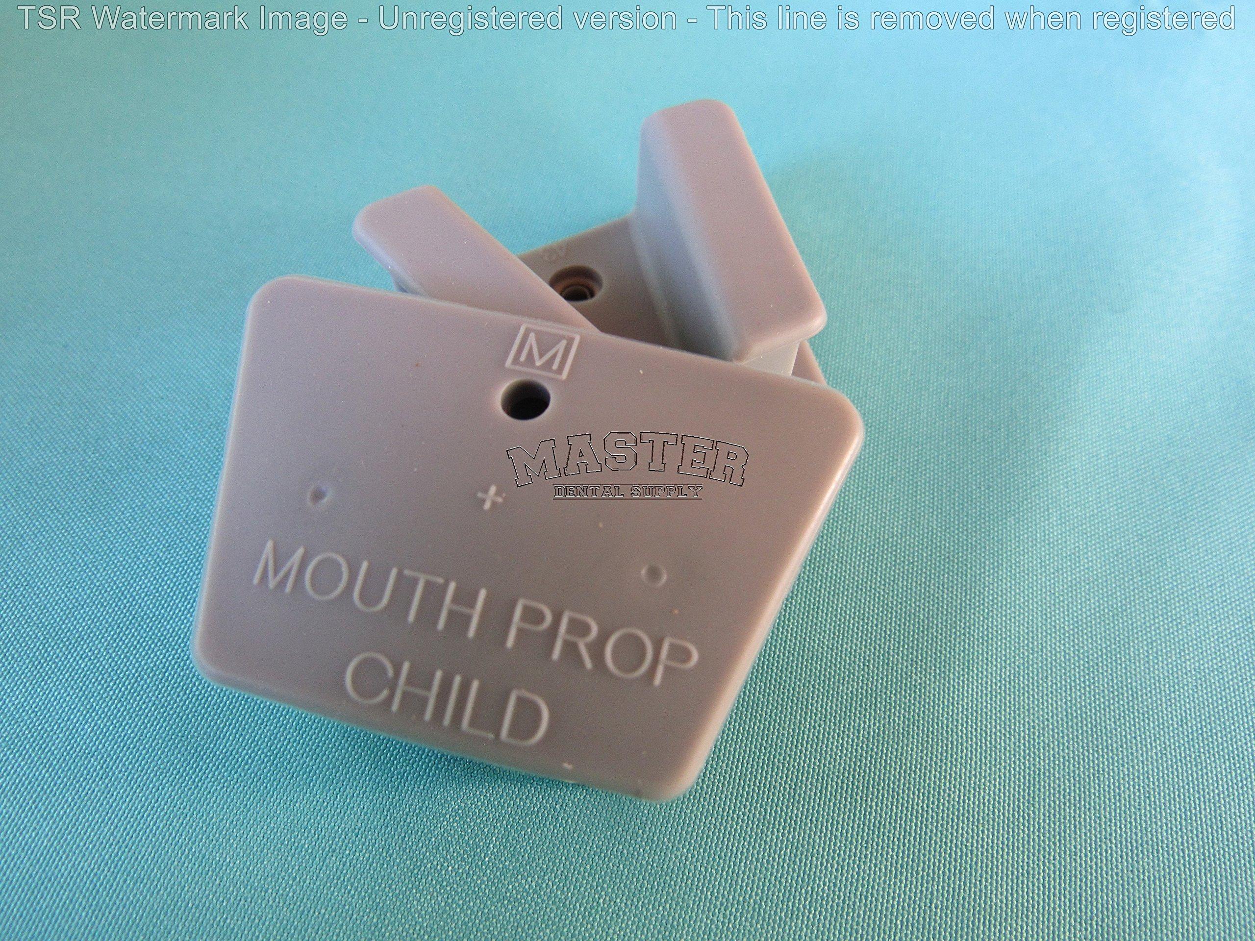 Dental Rubber Mouth Props MEDIUM 2 Pcs GRAY Color Bite Blocks AUTOCLAVABLE