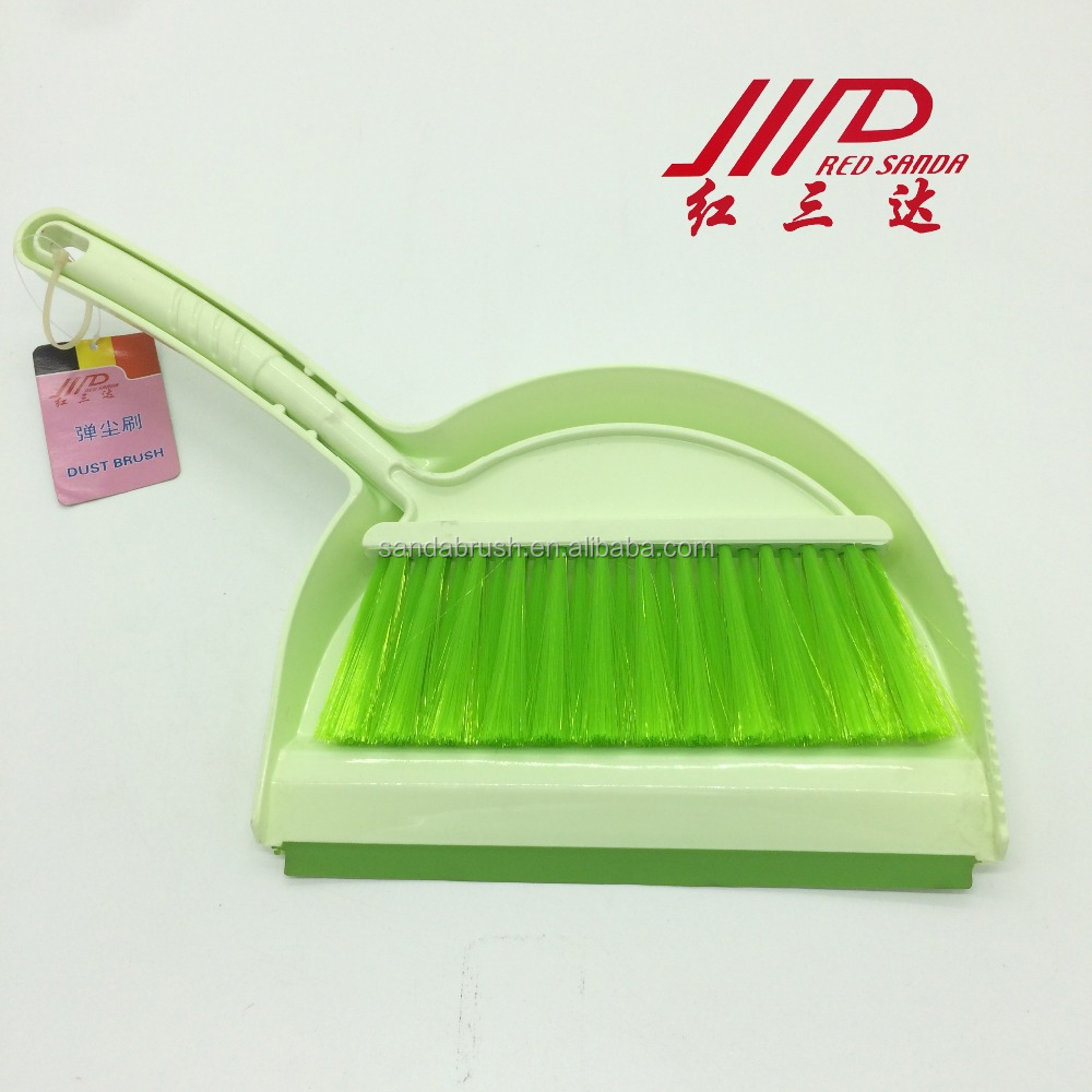 whole sale colorful plastic broom and dustpan set for table household cleaning brush