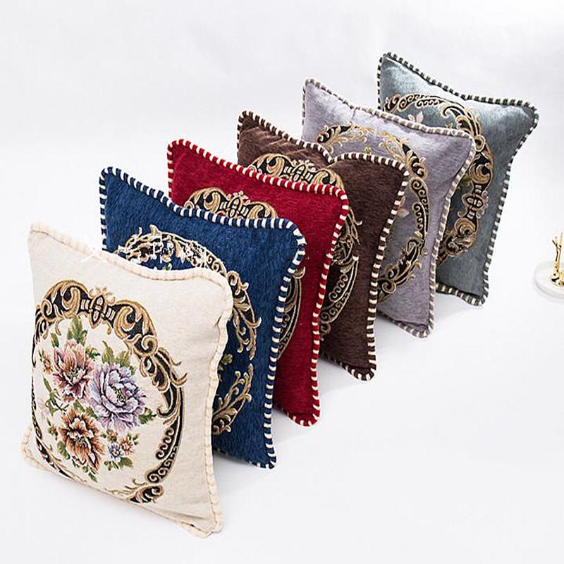 Dệt Hoa Phong Cách Châu Âu Bọc Gối Tấm Bọc Ghế Đệm Trang Chủ/Sofa/Trang Trí Ô Tô Bọc Gối