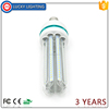 E27/B22 U shape 2835 led light bulb, 32w led corn bulb 4U 3U with clear glass cover