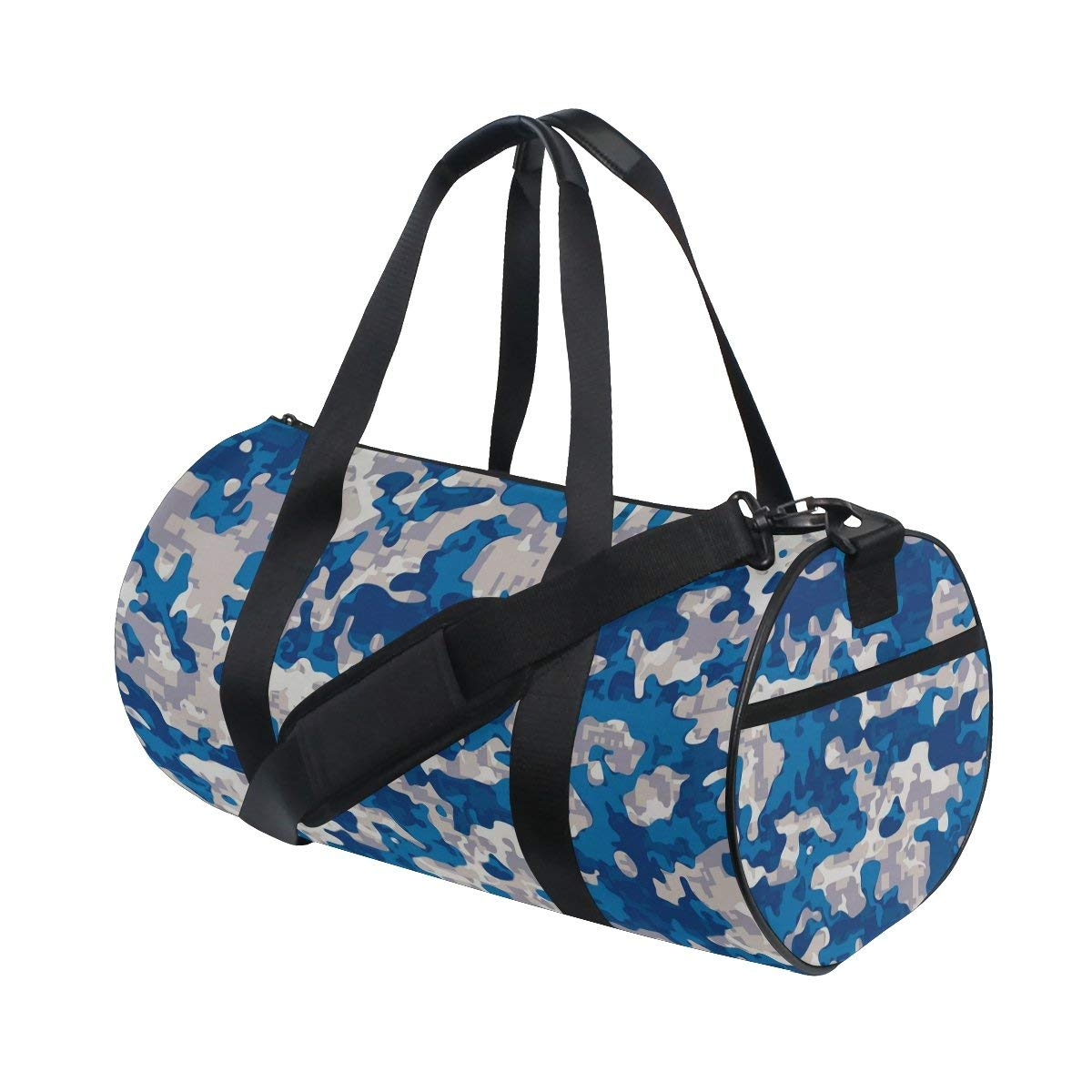 d64e11476598 Get Quotations · Naanle Modern Blue Camouflage Pattern Military Texture Camo  Gym bag Sports Travel Duffle Bags for Men