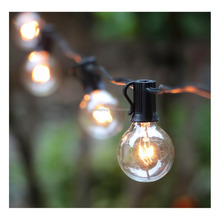 50Ft G40 Globe String Lights with Clear Bulbs-UL Listed for Indoor/Outdoor Commercial Decor, Outdoor String Lights for Patio