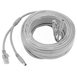 15M/49ft Ethernet Cable Cat5e Network LAN/Power Extension Cord for CCTV Security Cameras by Uptell