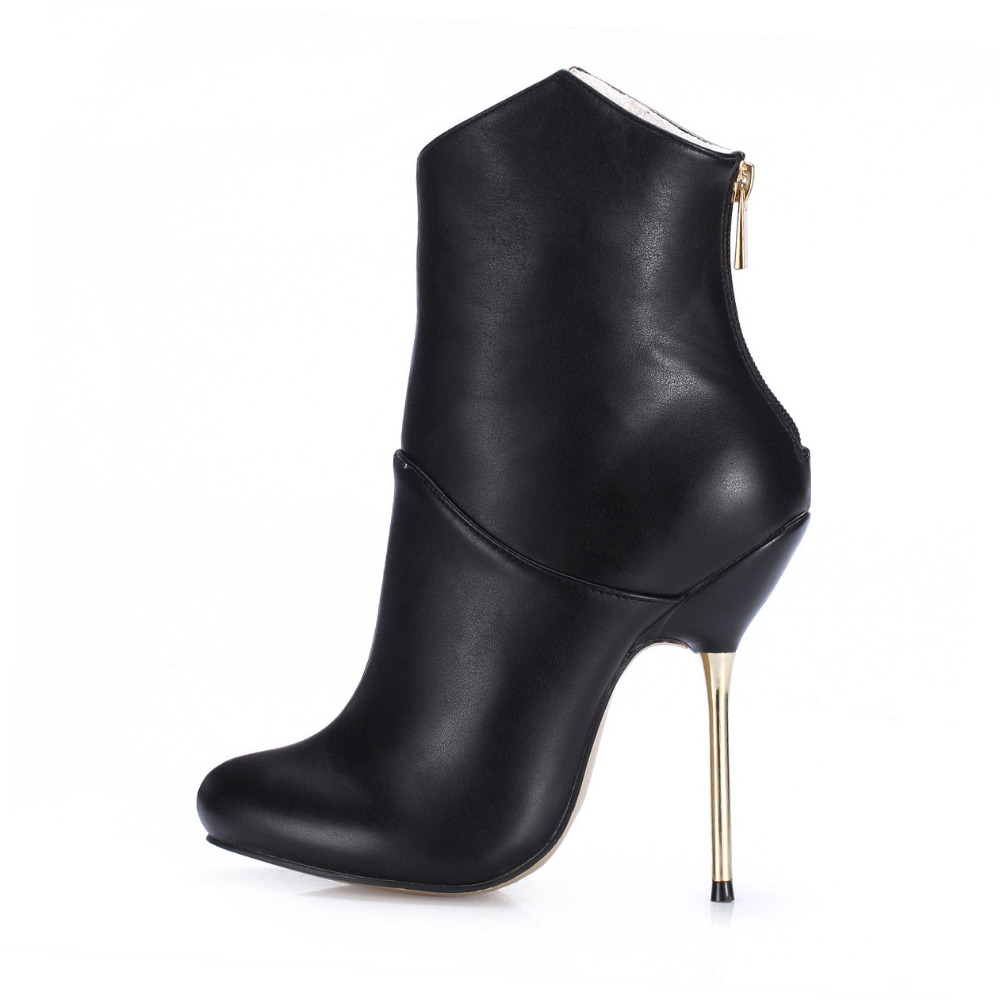 Brand New Stiletto Ankle Boots Women Leather Boots 2016 ...