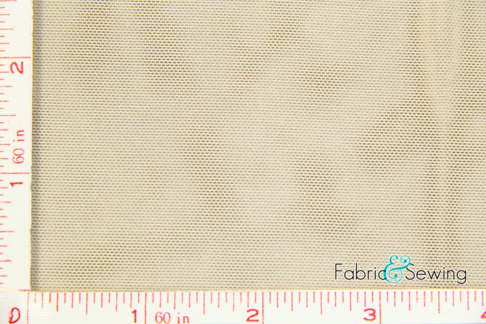 Nude Taupe Power Mesh Net Fabric 4 Way Stretch Nylon Spandex Lycra 6 Oz 60-62""