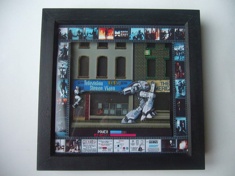 Get Quotations · Robocop 3D Arcade Art - Framed diorama 3d shadow box