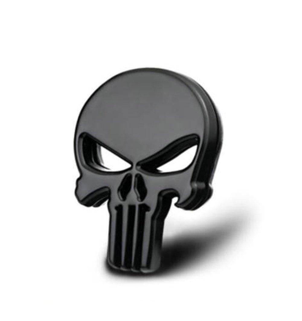 black Punisher metal emblem decal