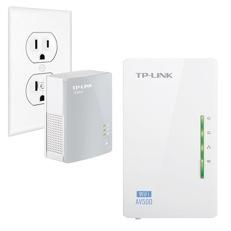 TP-Link AV500 2-Port Powerline Gigabit Wi-Fi Adapter Kit, 2-Kit (TL-WPA4220 KIT) (Certified Refurbished)