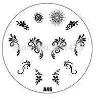 2015 new A Series A46 Nail Art Polish DIY Stamping Plates Image Templates Nail Stamp Stencil
