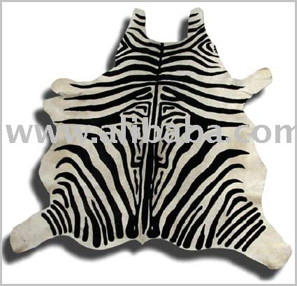 Zebra Hair-On Cowhide Printed