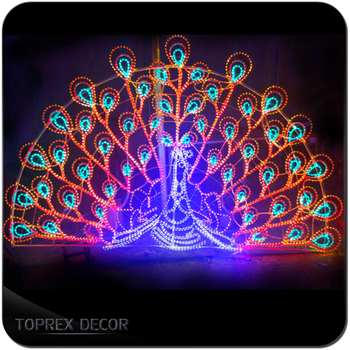 peacock christmas lighted outdoor animals decorations - Outdoor Lighted Animal Christmas Decorations