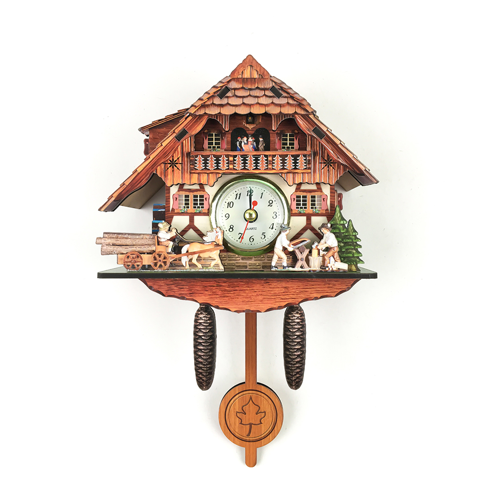 d6cd7782989b promotional gifts vintage house shape wooden antique cuckoo wall clock with  autoswinging pendulum
