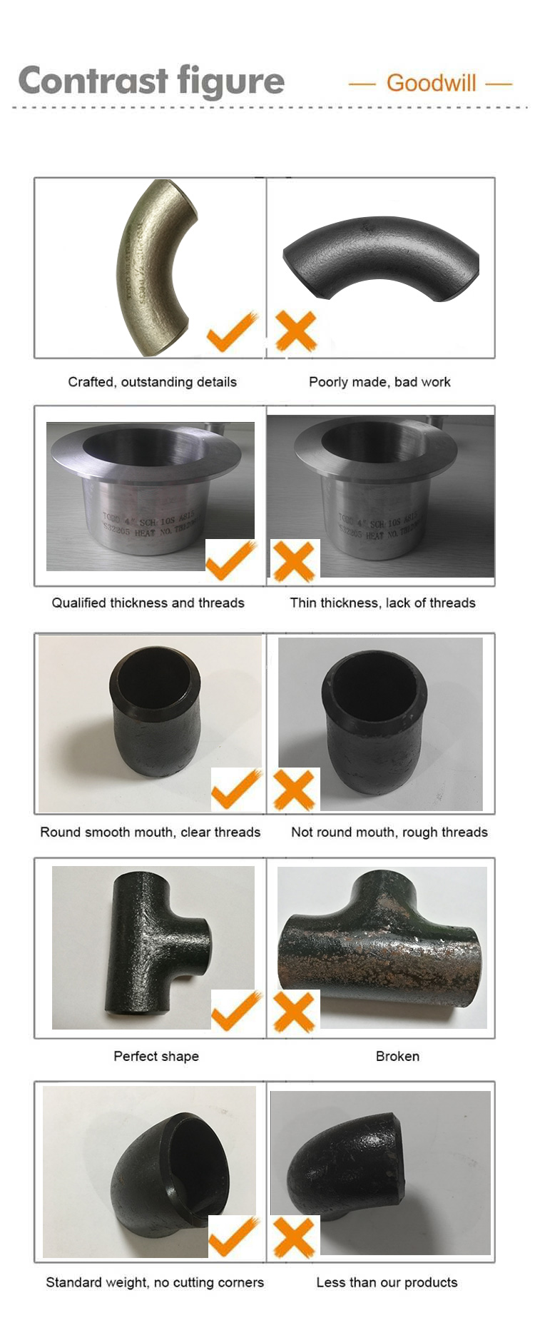 "Duplex steel 2205  elbow 90 Deg  6"" SCH 10S alloy fittings"