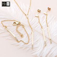 High Quality New Model Fashion Costume Necklace Earring Luxury Dubai 18k Gold Plated Wedding Bridal Jewelry Set