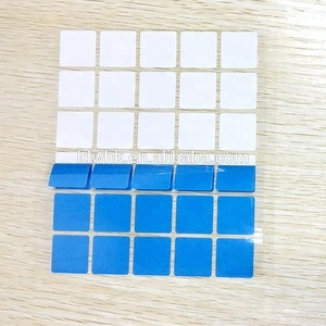 Customized 3W/mk dark bule silicone thermal pad for CPU cooling with fiberglass