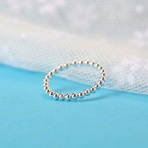 Factory wholesale pure silver ring 925 sterling silver small beads ring