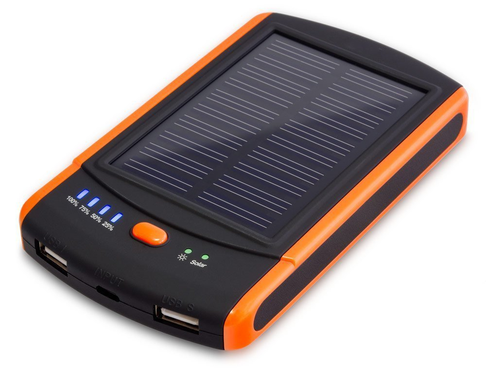 JJF Bird ™ Mp-s6000 Power Bank - Portable Mobile External Battery Charger with Solar Panel and 6000mah - 2x USB 2.1a Max Output for Cell Phone, Smart Phone, Iphone, Ipod, Pda, Mp3-player