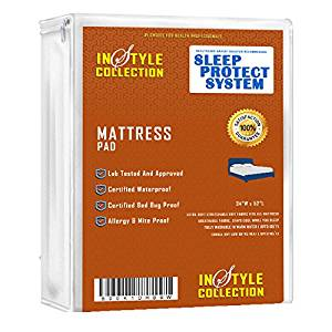 "Ultra Waterproof Sheet Protector Quilted Mattress Pad/Bed Pad, Premium Quality, Quilted, Waterproof Sheet Protector 34"" X 52"", for Children and Adult , Innovative 4 Layer Design, 8 Cups Absorbency"