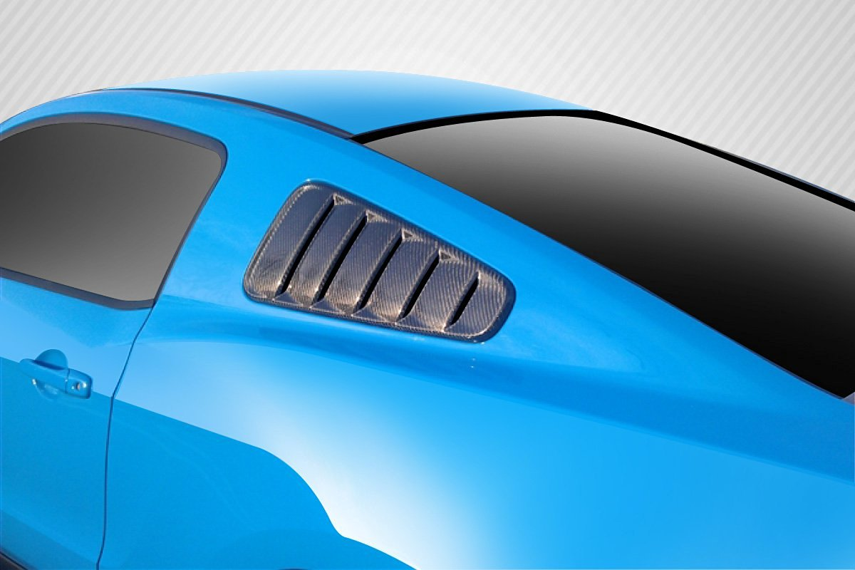 2010-2014 Ford Mustang Carbon Creations Boss Look Window Scoops Louvers - 2 Piece