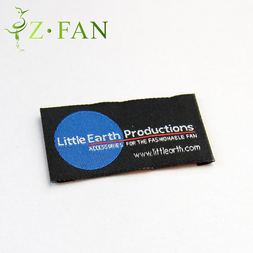 textile printed fabric brand care label Custom woven tags High Density Direct Factory Brand Logo Tags