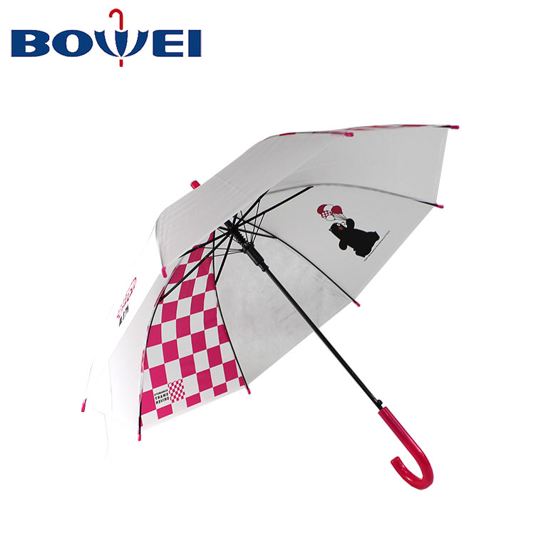 2019 new design custom logo print auto open cute mini straight children umbrella