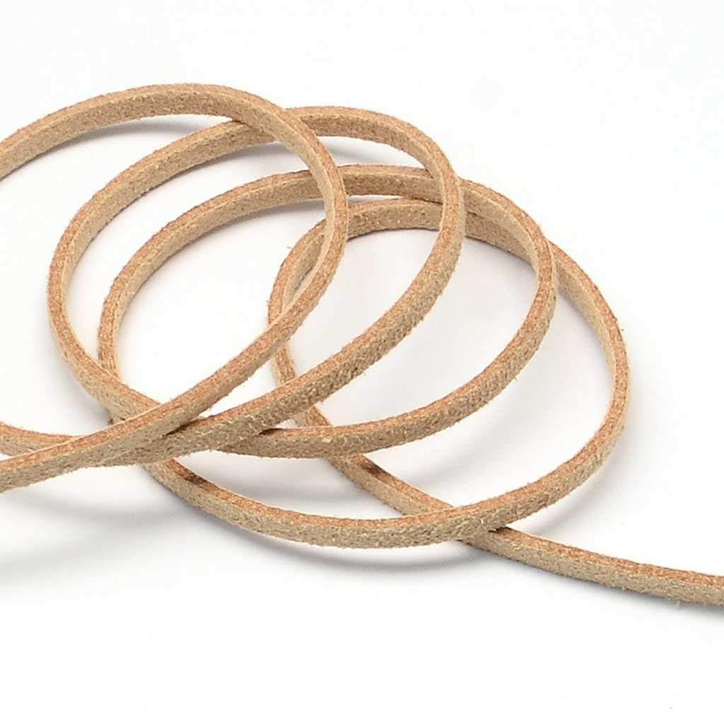 3 meters of suede cord 3 mm beige color