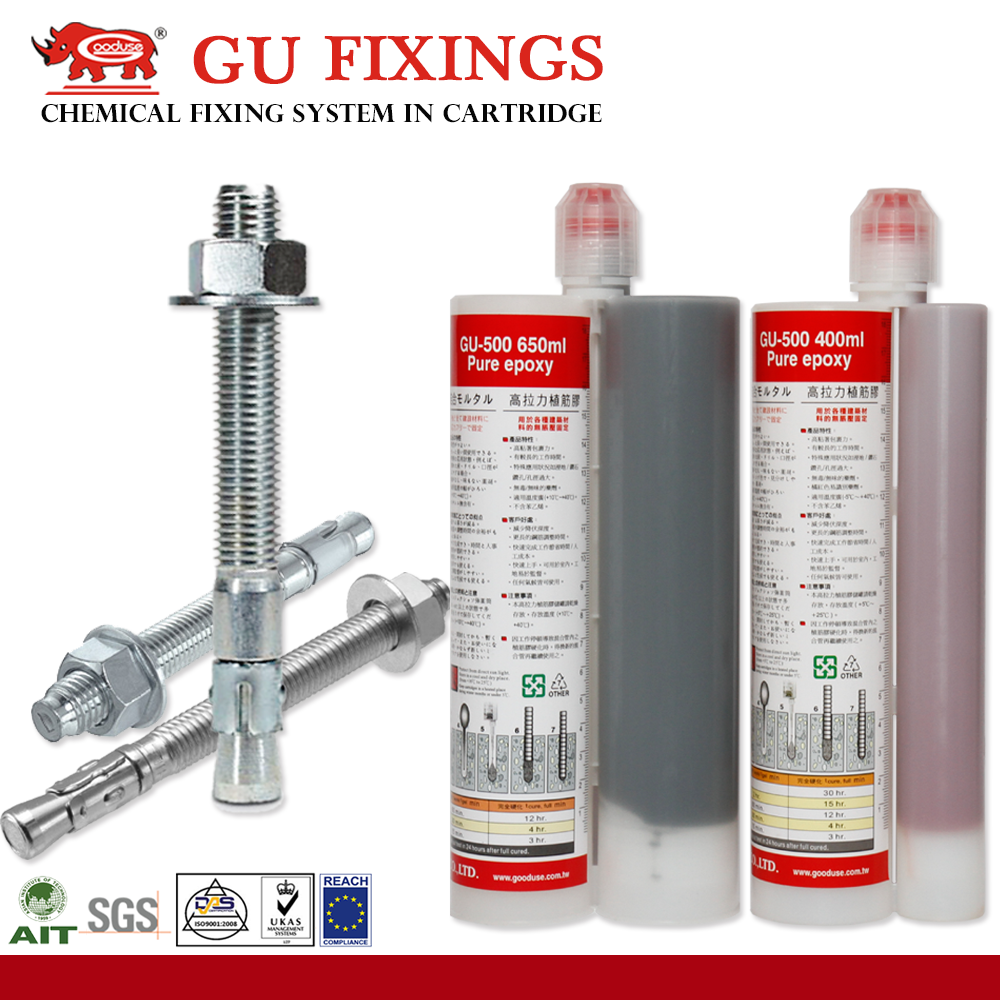 Epoxy resin injection chemical anchor custom grout Strong fixing system pure epoxy cartridge