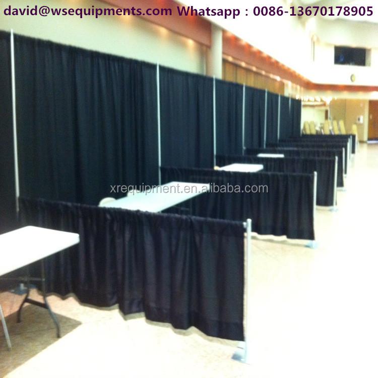 systems pipe cheap drapes basics show displa display black and drape trade