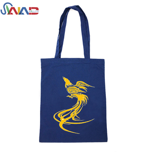 Wholesale promotional standard size cotton canvas tote bag for shopping