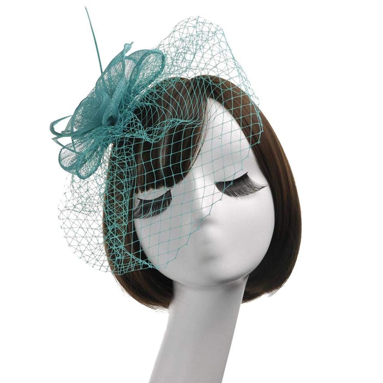 7c5d0407884b6 Get Quotations · LIULIULIUFashion Women Fascinator Net Bow Tie Mesh Hat  Cocktail Party Headdress Wedding