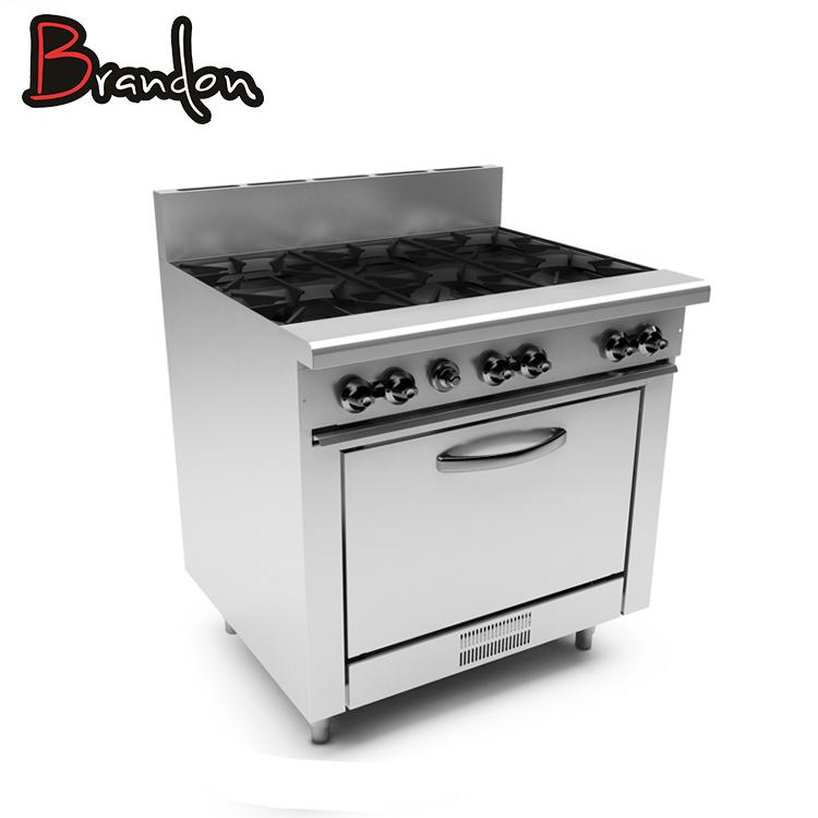 Großgeräte Bereiche Gh Serie Kombination Ofen Kochen Palette Griddel Grill Gas Brenner Für Kommerziellen Küche