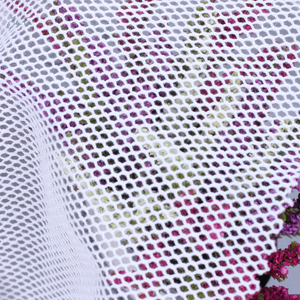 Polyester hex mesh fabric coarse knit fabric see through mesh fabric