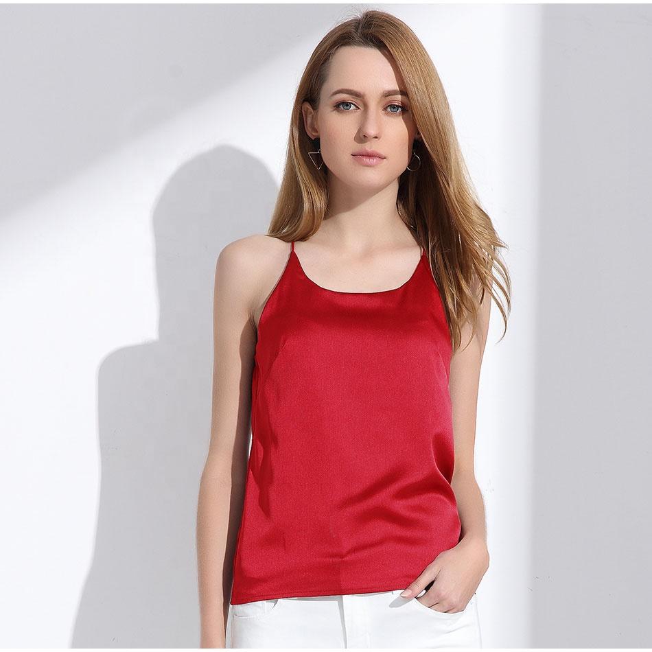 Alibaba.com / Silk Halter Top Women Camisole 2018 Summer Style Sexy Sleeveless Vest Slim White Crop Tops for Women Camis Roupas Femininas 3XL