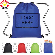 Factory price Polyester Fabric custom printing small draw string bag