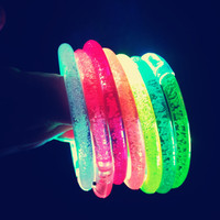 2019 New Year Party Music Sound Activated Flashing Concert LED Light Bracelet, Light Up Bracelet, Led Wrist bands