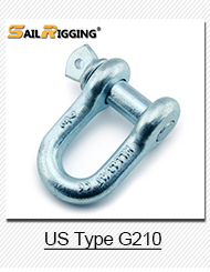 Drop Forged Omega Screw Pin Bow Australian Type Shackle