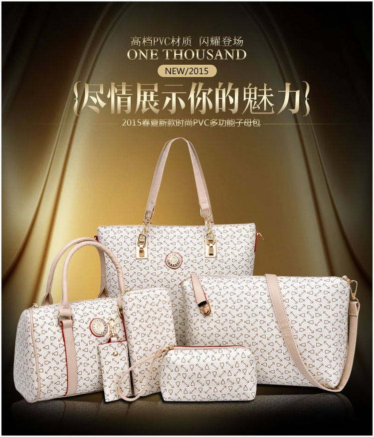 Bolsas Para Dama Women Tote Bag Lady Bags 6pcs Women Handbags Set With Wholesale Price