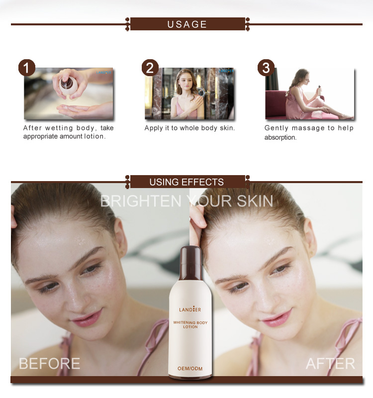 OEM/ODM Black Skin Body Whitening Lotion