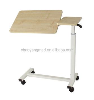 Hospital Bedside Tray Table,patient Adjustable Bedside Table,hospital Over  Bed Table With Wheels