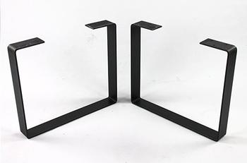 tischbeine schwarz metall