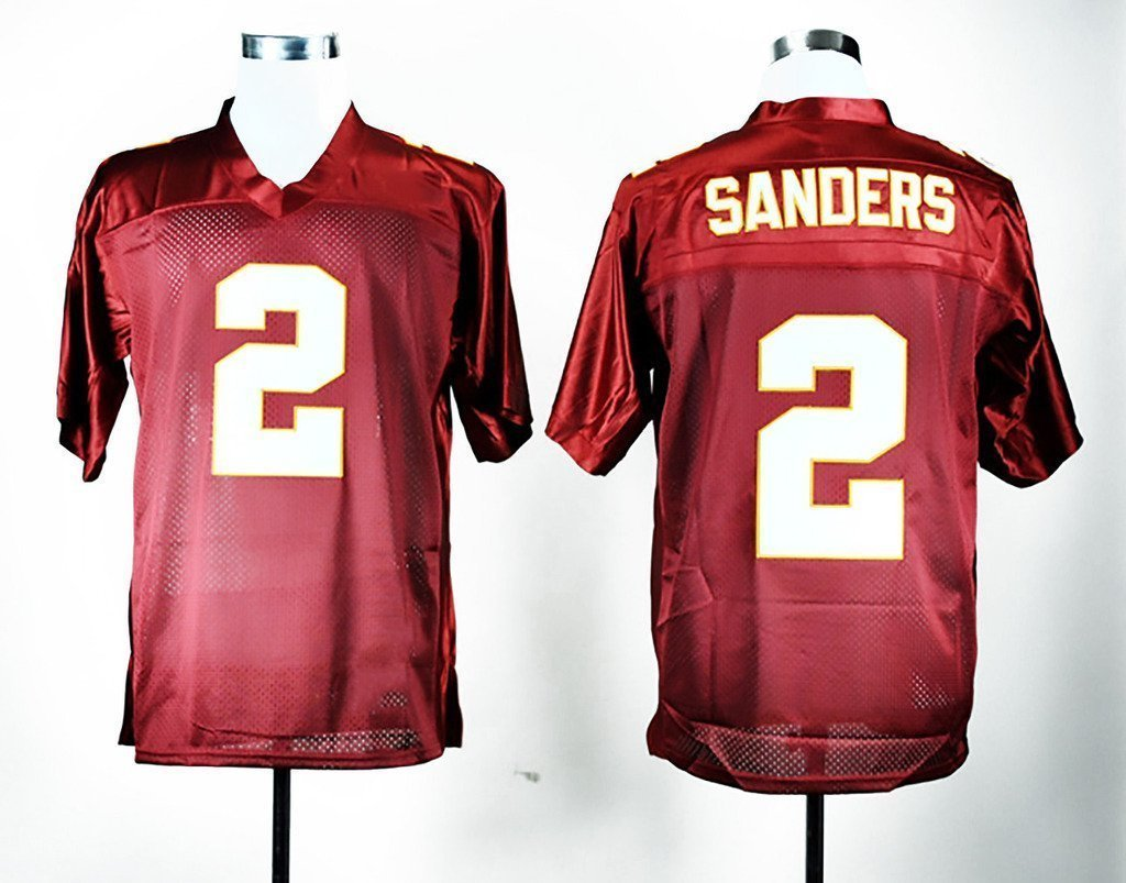100% authentic fb398 03007 reduced florida state seminoles 2 deion sanders red jersey ...