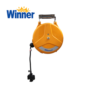 WE1510 WINNER Wall Mounted 220v Power Cord Reel with 3 Way Socket
